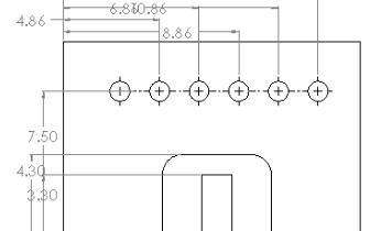 Korrasta SolidWorksi jooniste mõõdud Auto Arrange Dimensions tööriista abil